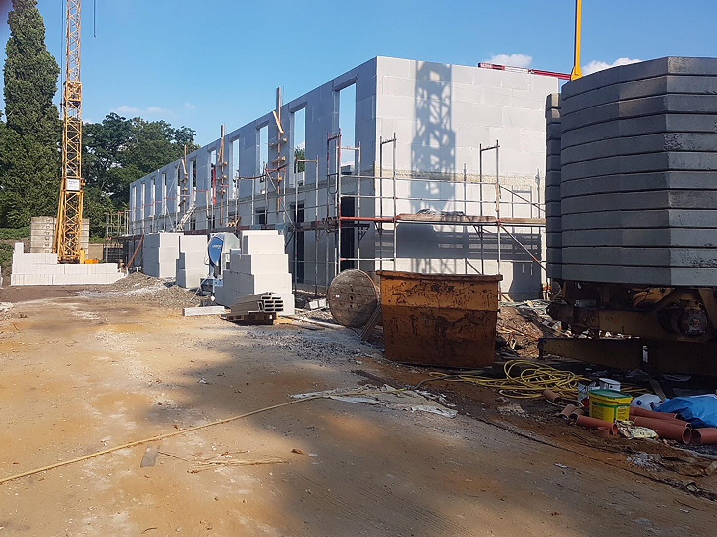 Baufortschritt des neuen PLAZA Hotels in Recklinghausen