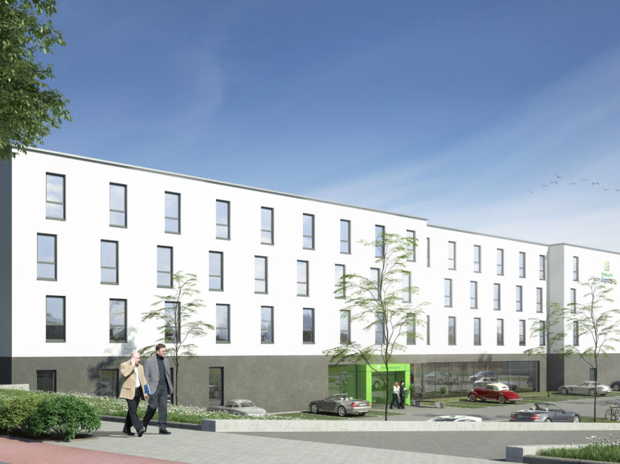 Illustration des neuen HIEX Hotels in Sindelfingen